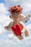 летание ангела счастливое Стоковые Изображения