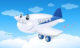 летание коммерчески самолета Стоковые Изображения