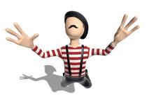 летание персонажа из мультфильма 3D в небе Стоковое Фото