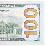 100 деталей примечания доллара Стоковые Изображения
