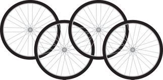 детализированные велосипедом изолированные колеса кораблей серии белые Стоковые Изображения RF
