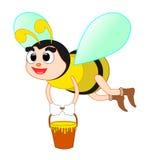 детализированный пчелой макрос изолированный медом штабелировал очень белизну бесплатная иллюстрация
