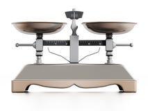 детализированный 3d вес маштаба перевода Стоковая Фотография