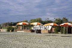 деталь зонтика на пляже Стоковая Фотография RF