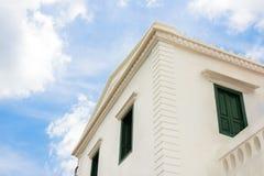 деталь китайско-португальских зданий архитектуры стоковая фотография