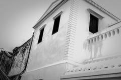 деталь китайско-португальских зданий архитектуры стоковые изображения