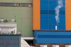 деталь Оберхаузен Германия завода Отход-к-энергии стоковое фото rf