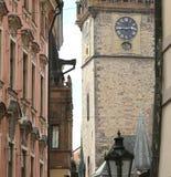 деталь старой башни в Праге в чехии Европе Стоковое Изображение