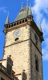деталь старой башни в Праге в чехии Стоковые Фотографии RF