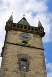 деталь старой башни в Праге в чехии Стоковые Изображения