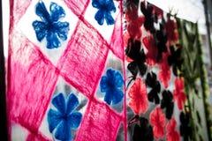 деталь multi образцов текстуры ткани цвета Стоковые Фотографии RF