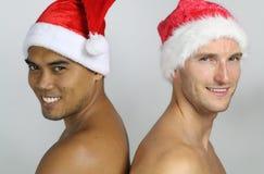 2 детеныша Санта Клаус Стоковое Изображение