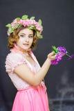 15 детенышей женщины Изображение весны Стоковые Изображения