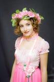 15 детенышей женщины Изображение весны Стоковые Фото