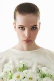 15 детенышей женщины Короткий стиль причёсок Стоковое Изображение
