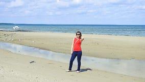 15 детенышей женщины Море Стоковая Фотография