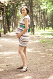 детеныши беременной женщины Стоковые Изображения RF
