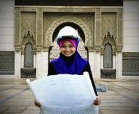 детеныши женщины архитектора мусульманские Стоковое Изображение RF