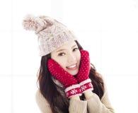 детеныши женщины зимы одежды Стоковое Фото