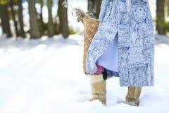 детеныши женщины зимы парка Стоковое фото RF