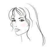 детеныши женщины красивейших светлых волос длинние Стоковые Фотографии RF