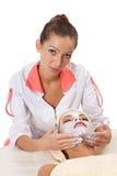 детеныши женщины маски глины лицевые Стоковое Фото