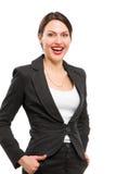 детеныши женщины портрета дела счастливые Стоковое Фото
