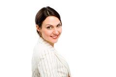 детеныши женщины портрета дела счастливые Стоковые Изображения RF