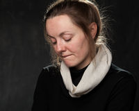 детеныши женщины портрета унылые стоковая фотография rf