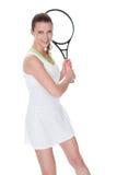 детеныши женщины тенниса игрока Стоковые Изображения RF