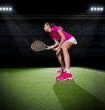 детеныши женщины тенниса игрока Стоковое Изображение RF
