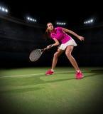 детеныши женщины тенниса игрока Стоковое фото RF
