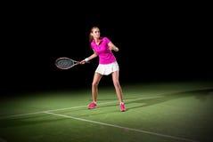 детеныши женщины тенниса игрока Стоковая Фотография