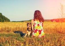 детеныши женщины griffon собаки breed bruxellois Стоковая Фотография RF