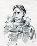 детеныши зимы человека одежд Стоковое Изображение