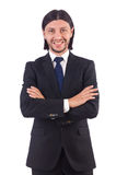 детеныши изолированные бизнесменом Стоковое фото RF