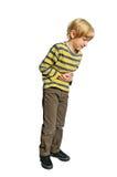 детеныши изолированные мальчиком Стоковое фото RF