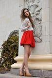 детеныши красивейшей девушки красные Стоковое Изображение RF