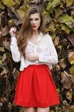 детеныши красивейшей девушки красные Стоковые Фотографии RF