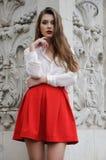 детеныши красивейшей девушки красные Стоковое фото RF