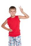 детеныши мальчика радостные Стоковые Фотографии RF