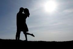 детеныши пар счастливые Стоковое Фото