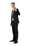 детеныши портрета бизнесмена полнометражные Стоковое фото RF