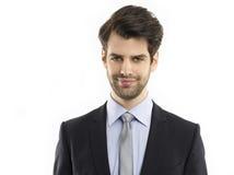 детеныши портрета предпосылки изолированные бизнесменом белые Стоковые Фото
