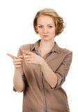 детеныши указывая женщины перстов Стоковое Фото