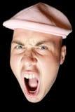 детеныши человека screaming стоковое изображение rf