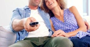 детеныши tv пар наблюдая сток-видео