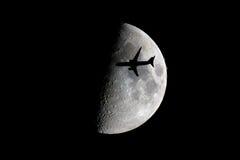 летите я луна к Стоковое Изображение