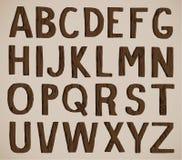 дети алфавита cubes вычерченная древесина игрушки пем s деревянная Стоковое фото RF