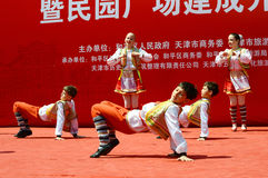 дети выполняя танец Стоковое фото RF